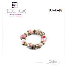 Bracelet EBE 2  Stretch bracelet with ceramic pearls. 1.400,00 Ksh http://www.federicafashion.com/it/ep89/bracelet-ebe-2/ http://www.jumia.co.ke/federica-fashion/