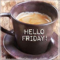 Wow, it's Friday & Weekend starting very soon!     In Canada it's long weekend                       &           Thanksgiving weekend!!!...:) Coffee Talk, Coffee Is Life, I Love Coffee, Coffee Break, Iced Coffee, Coffee Drinks, Coffee Cups, Coffee Girl, Happy Coffee