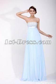 Elegant Light Blue Military Christmas Party Dresses:1st-dress.com