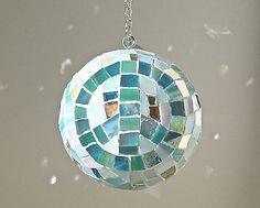 Aqua Peace and Love Home Decor Ornament // by LovePeaceSparkle, $145.00