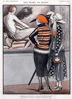 Georges Pavis illustration, La Vie Parisienne 1921