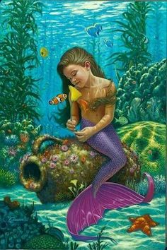 Little girl mermaid