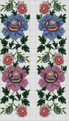 This Pin was discovered by Neş Cross Stitch Art, Cross Stitch Borders, Cross Stitch Flowers, Cross Stitch Designs, Cross Stitching, Cross Stitch Embroidery, Embroidery Patterns, Hand Embroidery, Cross Stitch Patterns