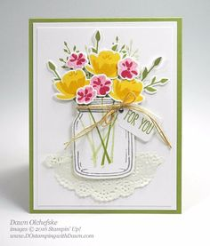 Jar of Love Bundle card created by Dawn Olchefske for DOstamperSTARS Thursday Challenge #DSC189 #dostamping #stampinup