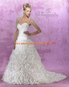 Luxuriöse wunderschöne Brautkleider aus Organza mit Schleppe Herzausschnitt