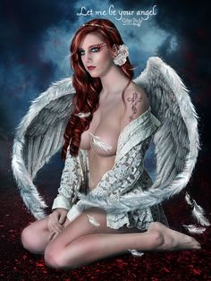 Let me be your angel by ©EstherPuche-Art on deviantART…