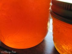 Sea buckthorn and apple jelly.