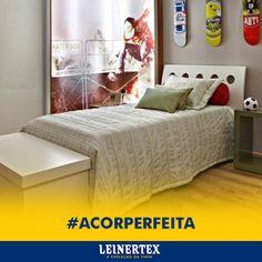 """O Cinza Londres da Leinertex se tornou o """"novo azul"""" no quarto dos meninos. A cor substituta traz uma leveza e se relaciona melhor com os demais móveis e itens de decoração! #ACorPerfeita #Leinertex"""