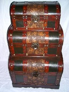 Superior Stackable Storage Trunks | ... Trunks Display Set | Antique Storage Trunks  | Stacking Leather Storage | Room | Pinterest | Wooden Trunks And Hurricane  Lamps