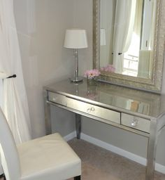 DIY Silver Leaf Vanity: how to silver leaf a piece of furniture