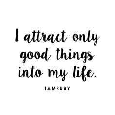 Say it with me... #affirmation #positivity #lawofattraction