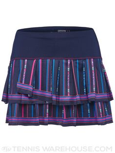 Lucky in Love Women's Athena Colosseum Pleat Tier Skirt
