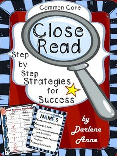 """""""Close Read: Step by Step Strategies for Success"""" is a comprehensive unit that includes wonderful resources to assist your students in performing close reading of a complex text."""