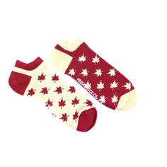 Canada Ankle Socks | Mismatched by Design | Friday Sock Co. Ethically made in Italy. Click the link to see more designs!