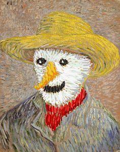 van Gogh's snowman