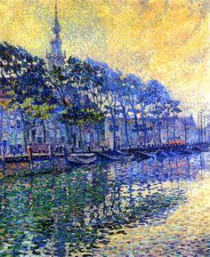 The Athenaeum - Veere (Holland): October Mists (Theo van Rysselberghe - 1906)