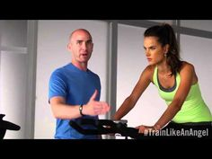 This should definitely get those heart rates up! Spinning 101 from Trainer Justin Gelband & Angel Alessandra Ambrosio.