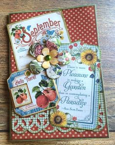 Time to Flourish collection by Graphic 45 - September Card | Creator's Image Studio