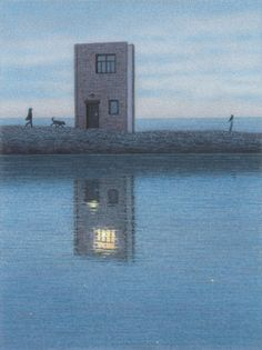 cool reflection _Haus am Strand (House on the Beach) by Quint Buchholz 2013 Magritte, Traveller's Tales, Digital Museum, Unusual Art, Collaborative Art, Illusions, Book Art, Contemporary Art, Illustration Art