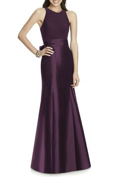 Find beautiful purple bridesmaid dresses for your wedding party. Plum, wisteria, eggplant, lavender, Where to shop for purple dresses for bridesmaids to mix and match. Gold Bridesmaid Dresses, Wedding Dresses, Bridesmaid Ideas, Wedding Attire, Bridesmaids, Lavender Gown, Alfred Sung, Trumpet Gown, Mom Dress