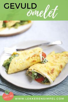 Gevulde omelet met roomkaas en avocado. Voor wie geen zin heeft om lang in de keuken te staan of even niet zoveel trek heeft. Maar ook uitermate geschikt voor degene die zin heeft in een lekere lunch! Klik op de foto voor het recept. Weight Watchers Menu, A Food, Food And Drink, Tacos And Burritos, Low Carb Lunch, Good Foods To Eat, Easy Cooking, High Tea, Food Porn
