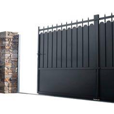 portail en aluminium style traditionnel avec petits ronds portillon et cl ture alu assortis. Black Bedroom Furniture Sets. Home Design Ideas