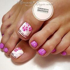 Без названия Pretty Toes, Pretty Nails, Mani Pedi, Manicure And Pedicure, Toe Nail Designs, Toe Nails, Hair And Nails, Cosmetics, Beauty