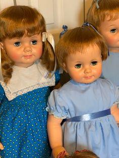 Girls Dresses, Flower Girl Dresses, Ideal Toys, Baby Dolls, Wedding Dresses, Face, Fashion, Dresses Of Girls, Bride Dresses