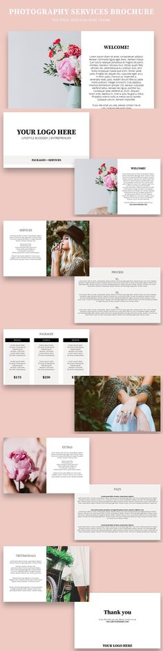 Trifold Clean Brochure Template Indesign Indd Graphics Pinterest