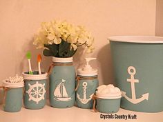 Items similar to Teal Nautical bathroom decor, sailor theme, anchor, sail boat , steering wheel. Teal Nautical Bathrooms, Anchor Bathroom, Turquoise Bathroom, Nautical Bathroom Decor, Beach Bathrooms, Bathroom Sets, Bohemian Bathroom, Bathroom Storage, Bathroom Shelves