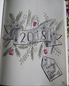New Year ~ New Beginnings ~ New Bullet Journal Inspiration ~ January 2018