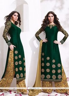 Exuberant Raw Silk Zari Work Designer Palazzo Salwar Suit Model: YOS7979