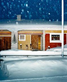 "Sweden, Kiruna, From the series ""Vinter"". Color Photography, White Photography, Street Photography, Colourful Photography, William Eggleston, New York Times Magazine, Lappland, Sad Pictures, Dark Winter"
