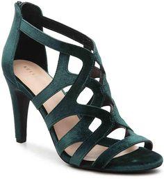 1125c2cb35cf Kelly  amp  Katie Women s Ocilia Velvet Sandal Sheer Fabrics