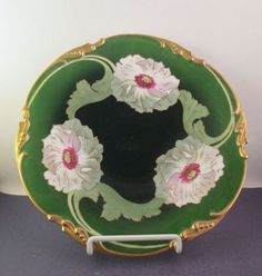 Limoges Poppies Cabinet Plate