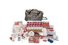1 Person Elite Survival Kit w/ CAMO Wheel Bag