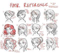 ways to draw hair