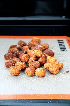 fritters made from baked semolina gnocchi scraps