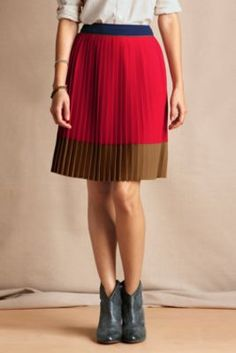 Gatsby Colorblock Skirt from Lands' End Canvas