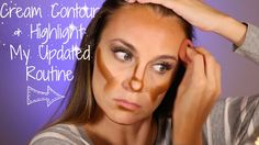 My updated EASY Highlighting and Contouring Routine using cream foundations by Cover FX and a beauty blender.  I'm showing you step by step how to highlight and contour your face using cream foundation.  Hoola Bronzer by Benefit Cosmetics is a must!  #HelloGorgeous