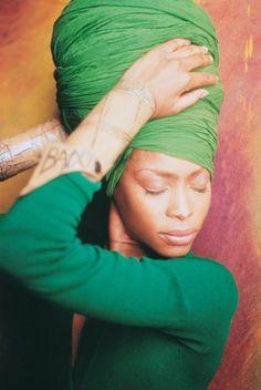 how to tie a turban head wrap - Erykah...queen of head wraps!!