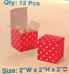 FAVOR GIFT BOXES  Pink Polka Dot  Party by BellaBargains - OTHER COLORS ON ETSY