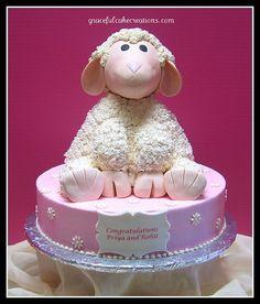 Lambie Baby Shower Cake