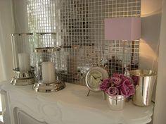 I'm a big fan of mosaic mirror tiles and use them a lot, especially on cupboard backs . evtl im Esszimmer-Bar-Bereich Feminine Bathroom, Mauve Bathroom, Casa Clean, Romantic Room, Interior Decorating, Interior Design, Decorating Ideas, Mosaic Tiles, Kitchen Mosaic