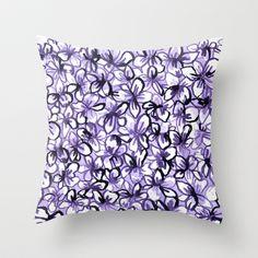 Violets Throw Pillow by msjordankay - $20.00