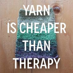 Yarn is cheaper than therapy tag a friend who needs a pick me up  // #artequalshappy #littleskeinsofcolours #auyarns // From our shop account: @AUshopUK follow us for more fun peeks into our shop near Bristol UK. http://ift.tt/1SPuuxi We're the wool shop in Cleeve with the big sheep mural on the A370.