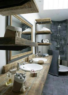 Love the rustic, but modern feel