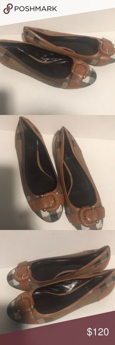 Burberry novacheck ballet flats shoes Burberry flat shoes well loved use apparent great shoes still fits 9 I wear 9 Burberry Shoes Flats & Loafers