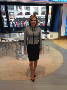 I bought the top and skirt at - shoes Gianvito Rossi Itv Weather Girl, Ginger Zee, 420 Girls, Dress Skirt, Skirt Suit, Stitch Fix Outfits, Office Looks, Office Outfits, Work Attire