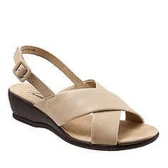 Trotters Lee Strappy Wedge Sandals (FootSmart.com)